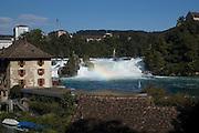 Switzerland,  Rhinefall Schaffhausen, Rhine Falls on the river Rhine,