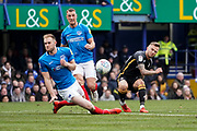 David Ball of Bradford City shot goes wide during the EFL Sky Bet League 1 match between Portsmouth and Bradford City at Fratton Park, Portsmouth, England on 2 March 2019.