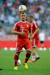 01.08.2013, Allianz Arena, Muenchen, Audi Cup 2013, FC Bayern Muenchen vs Manchester City, im Bild, Xherdan SHAQIRI (FC Bayern Muenchen), Freisteller, Ganzkoerper, Ganzfigur, Einzelaktion, hoch , hochformat, vertikal, Aktion,  // during the Audi Cup 2013 match between FC Bayern Muenchen and Manchester City at the Allianz Arena, Munich, Germany on 2013/08/01. EXPA Pictures © 2013, PhotoCredit: EXPA/ Eibner/ Wolfgang Stuetzle<br /> <br /> ***** ATTENTION - OUT OF GER *****