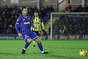 Dannie Bulman of AFC Wimbledon during the Sky Bet League 2 match between AFC Wimbledon and Dagenham and Redbridge at the Cherry Red Records Stadium, Kingston, England on 24 November 2015. Photo by Stuart Butcher.