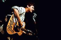 Singer/songwriter Alex Dupont performs at studio in Berkeley, CA.  Copyright 2009 Reid McNally.