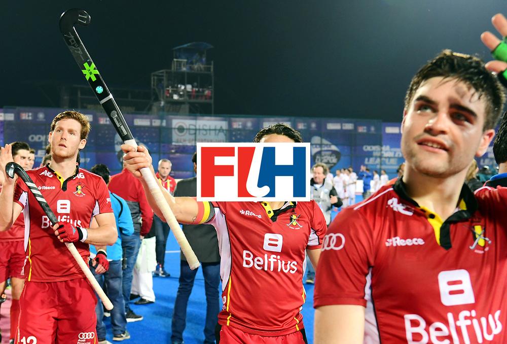 Odisha Men's Hockey World League Final Bhubaneswar 2017<br /> Match id:18<br /> Belgium v Spain<br /> Foto: Belgium wins from Spain<br /> Thomas Briels (Bel) <br /> COPYRIGHT WORLDSPORTPICS FRANK UIJLENBROEK