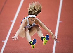 Paraskevi Papahristou of Grece competes in the Triple Jump Women Qualification on day one of the 2017 European Athletics Indoor Championships at the Kombank Arena on March 3, 2017 in Belgrade, Serbia. Photo by Vid Ponikvar / Sportida