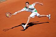 Roland Garros. Paris, France. 23 Mai 2010..Le joueur allemand Daniel BRANDS contre Jo-Wilfried TSONGA...Roland Garros. Paris, France. May 23rd 2010..German player Daniel BRANDS against Jo-Wilfried TSONGA.