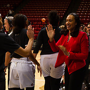 27 January 2018: The San Diego State women's basketball team hosts UNLV for women in sports day at Viejas Arena. The Aztecs dropped a tough game to the Rebels 75-64.<br /> More game action at www.sdsuaztecphotos.com