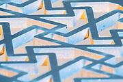 water jet cut steel pattern
