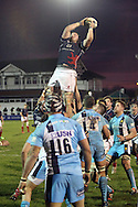 James Phillips collects another line-out during the Green King IPA Championship match between London Scottish &amp; Worcester at Richmond, Greater London on 20th December 2014<br /> <br /> Photo: Ken Sparks | UK Sports Pics Ltd<br /> London Scottish v Worcester, Green King IPA Championship, 20th December 2014<br /> <br /> &copy; UK Sports Pics Ltd. FA Accredited. Football League Licence No:  FL14/15/P5700.Football Conference Licence No: PCONF 051/14 Tel +44(0)7968 045353. email ken@uksportspics.co.uk, 7 Leslie Park Road, East Croydon, Surrey CR0 6TN. Credit UK Sports Pics Ltd