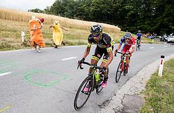 Tomas Buchacek (CZE) of Elkov-Author Cycling team, Gorazd Per (SLO) of KK Adria Mobil during Stage 2 of 24th Tour of Slovenia 2017 / Tour de Slovenie from Ljubljana to Ljubljana (169,9 km) cycling race on June 16, 2017 in Slovenia. Photo by Vid Ponikvar / Sportida