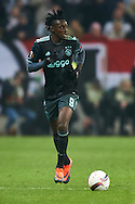 Warsaw, Poland - 2017 February 16: Bertrand Traore of Ajax Amsterdam controls the ball during soccer match Legia Warszawa v Ajax Amsterdam - UEFA Europe League  at Municipal Stadium on February 16, 2017 in Warsaw, Poland.<br /> <br /> Mandatory credit:<br /> Photo by © Adam Nurkiewicz / Mediasport<br /> <br /> Adam Nurkiewicz declares that he has no rights to the image of people at the photographs of his authorship.<br /> <br /> Picture also available in RAW (NEF) or TIFF format on special request.<br /> <br /> Any editorial, commercial or promotional use requires written permission from the author of image.