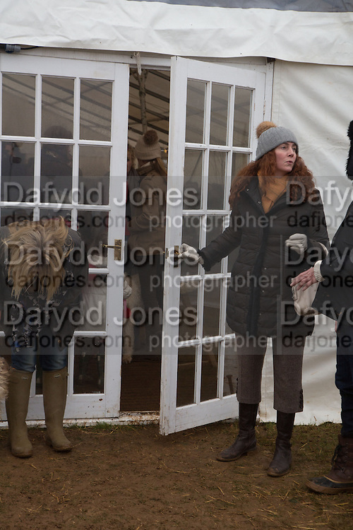 REBEKAH BROOKS; MANNING THE DOOR  Heythrop Point to Point. At a  new course at Cocklebarrow near Aldsworth. 11 January 2014