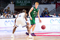 Real Madrid's player Dontaye Draper and Unicaja Malaga's player Alberto Diaz during match of Liga Endesa at Barclaycard Center in Madrid. September 30, Spain. 2016. (ALTERPHOTOS/BorjaB.Hojas)