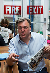 © London News Pictures. 01/05/2015. Shadow Chancellor ED BALLS  during a visit to Kingsgate Community Centre in Kilburn, North London ahead of the 2015 general election. Photo credit: Ben Cawthra/LNP