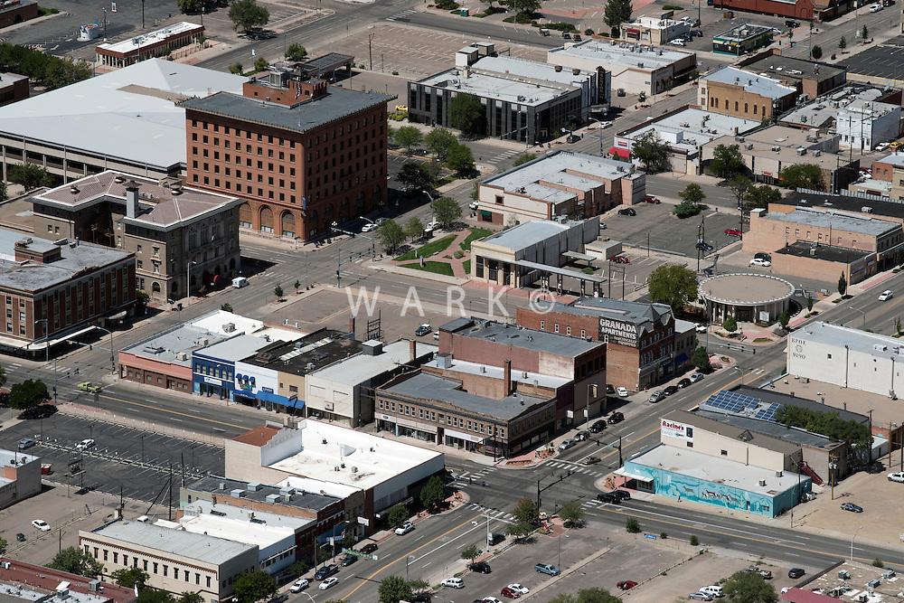 Pueblo, Colorado, 4th and Santa Fe Ave.  Aug 23, 2014. 813090