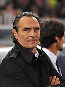Italy coach Cesare Claudio Prandelli during the UEFA EURO 2010 Group C qualifying match between Italy and Serbia was suspended at Luigi Ferraris Stadium on October 12, 2010 in Genoa, Italy.