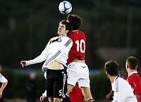 Fotball , 5. februar 2010 , Privatkamp U19 , Norge - Tyskland 2-1<br /> Norway - Germany 2-1<br /> <br /> Torstein Andersen Aase , Norge<br /> Stefan Bell , Tyskland