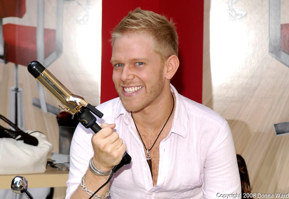 Season 2 contestant Daniel poses at the Bravo 'Shear Genius' Times Square Salon on the Military Island in Times Square in New York City, USA on June 24, 2008.