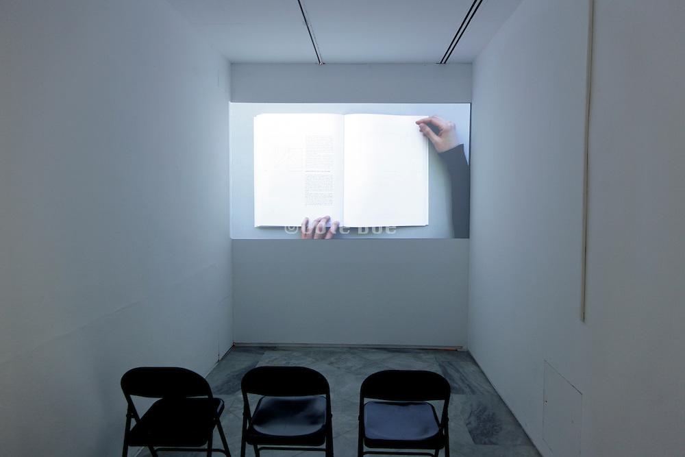 projection gallery inside the museum of Centro Andaluciuz de Arte Contemporaneo Sevilla