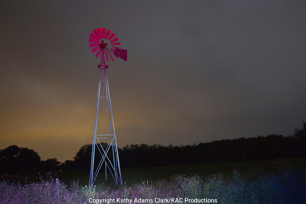 Light painting a windmill.