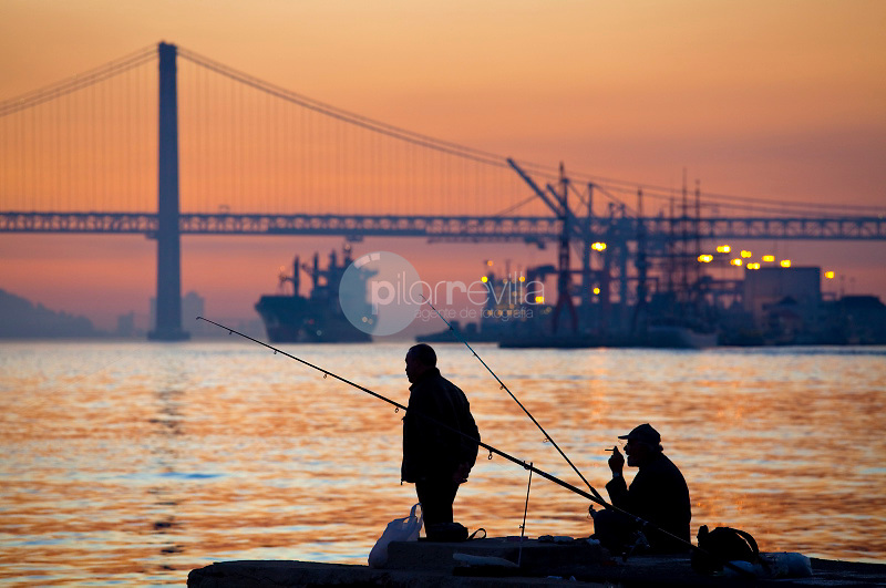 View the April 25 Bridge on the River Tagus in Lisbon, Portugal © / PILAR REVILLA
