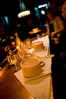 9 October, 2008. New York, NY. Steamers containing dumplings are here on the bar at Shorty's 32 Restaurant in Soho. Shorty's 32 has late night services some nights. <br /> <br /> &copy;2008 Gianni Cipriano for The New York Times<br /> cell. +1 646 465 2168 (USA)<br /> cell. +1 328 567 7923 (Italy)<br /> gianni@giannicipriano.com<br /> www.giannicipriano.com