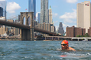 NYC Swim event. East River. From Manhattan to Brooklyn. (Summer 2014)