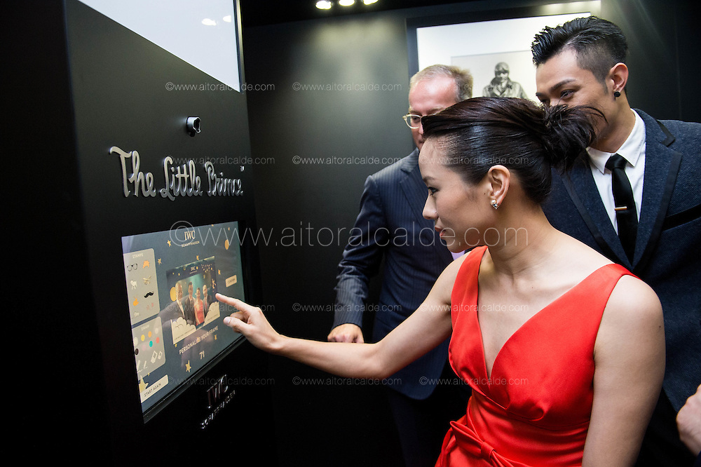 Pakho Chau Hong Kong Singer, Karena Lam Hong Kong actress, Arnau Nazare-Aga artist of the The Little Prince Exhibition, Olivier D' Agay great-nephew of the Antonie de Saint-Exupéry, Goris Verburg managing director of North east Asia of IWC Schaffhausen attend the opening ceremony of The Little Prince Exhibition at Pacific Place Hong Kong on 2nd of December 2015 in Hong Kong, China. Photo by Aitor Alcalde / studioEAST