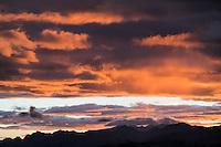 Sunset from Aspen Mountain, Colorado.