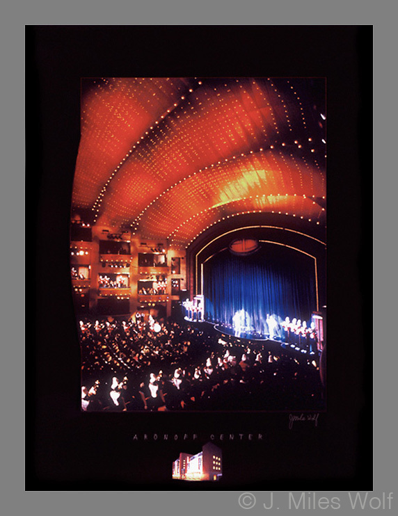 Signed and numbered 19x24 poster of the Aronoff Center in Cincinnati