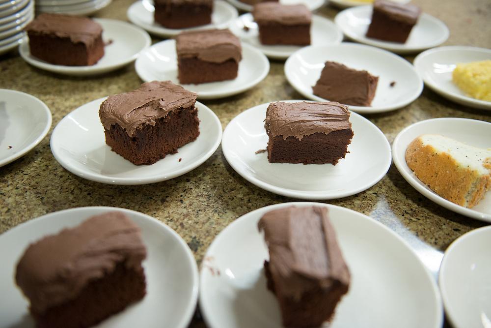 Chocolate cake desert at Shivley Dining Hall.