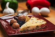 Enjoy a fluffy Fritatta with halved potatoes created by Chef Ray Willey of Take the Night Off in Ft. Lauderdale, Florida. Photography by Jeffrey A McDonald