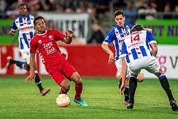 12-05-2018 NED: FC Utrecht - Heerenveen, Utrecht<br /> FC Utrecht win second match play off with 2-1 against Heerenveen and goes to the final play off / Urby Emanuelson #18 of FC Utrecht, Marco Rojas #7 of SC Heerenveen