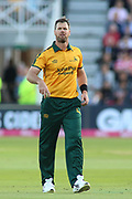 Dan Christian of Nottinghamshire Outlaws bowling during the Vitality T20 Blast North Group match between Nottinghamshire County Cricket Club and Worcestershire County Cricket Club at Trent Bridge, West Bridgford, United Kingdon on 18 July 2019.