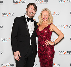 © Licensed to London News Pictures. 04/05/2017. LONDON, UK.  ERIC LANLARD, celebrity chef with KRISTINA RIHANOFF at The City Dinner fundraising event for the charity, 'Back Up Trust' at the Marchant Taylor's Hall. 'Back Up Trust' work to inspire independence in people affected by spinal cord injury and help them get the most from their lives, working with people of all ages, from young children to the elderly.  Photo credit: Vickie Flores/LNP