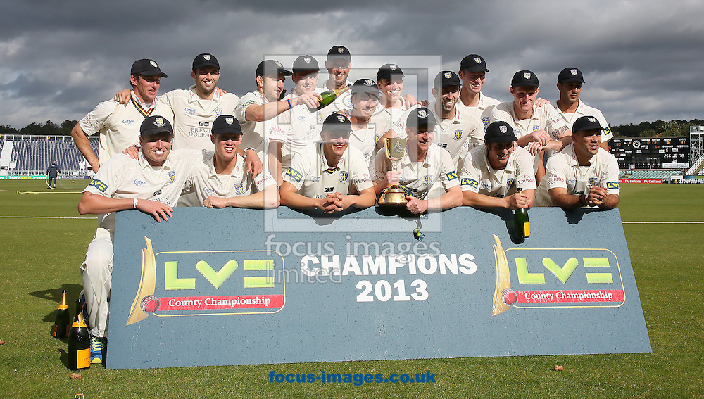 Picture by Paul Gaythorpe/Focus Images Ltd +447771 871632<br /> 19/09/2013<br /> Durham County Cricket Club, LV County Champions 2013 at Emirates Durham ICG, Chester-le-Street.