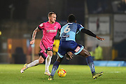 Hartlepool United Forward, Lewis Alessandra (15) Wycombe Wanderers Defender, Aaron Pierre (6) during the EFL Sky Bet League 2 match between Wycombe Wanderers and Hartlepool United at Adams Park, High Wycombe, England on 26 November 2016. Photo by Adam Rivers.