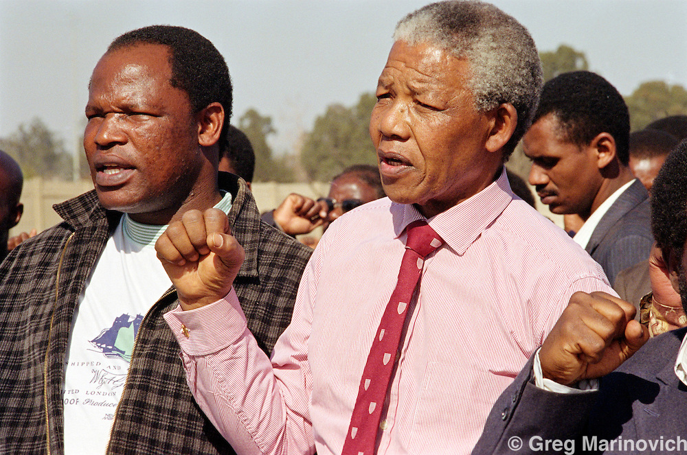 Boipatong, Vaal, Transvaal, South Africa. ANC President Nelson Mandela  at Boipatong / Evaton 21 June 1992
