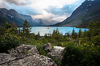 Wild Goose Island is a very popular destination for photographers to shoot the Sunrise and the Sunset while visiting Glacier Park.<br /> <br /> Images from a camping trip to Glacier National Park in Montana.<br /> <br /> ©2010, Sean Phillips<br /> http://www.RiverwoodPhotography.com