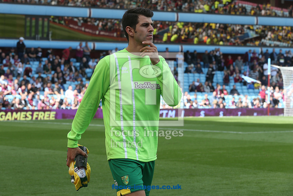 Nelson Oliveira of Norwich before the Sky Bet Championship match at Villa Park, Birmingham<br /> Picture by Paul Chesterton/Focus Images Ltd +44 7904 640267<br /> 19/08/2017