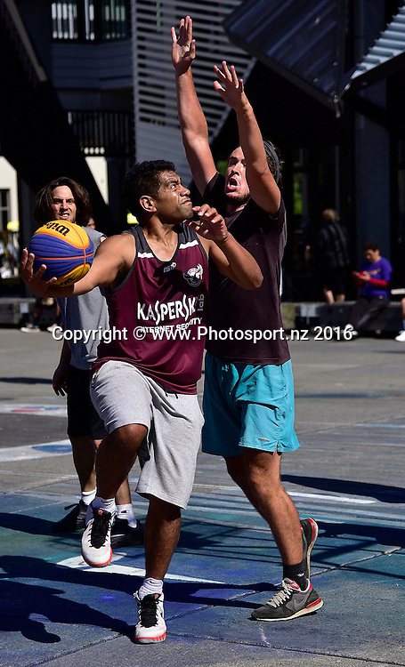 3x3 round robin play during the 3x3 National Basketball tour in Wellington on Saturday the 12th March 2016. Copyright Photo by Marty Melville / www.Photosport.nz