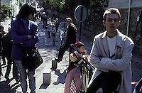 Jeune tambour, Place Dalida, Montmartre, Paris, France.
