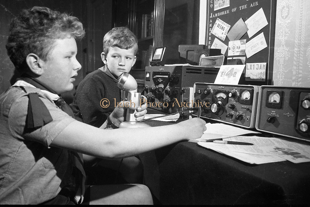 "Jamboree on the Air for Catholic Boy Scouts of Ireland. Catholic Scouts of Ireland, calling ""C-O Jamboree"" during the ""Jamboree of the Air"". The Jamboree is a link up of the world's ten million scouts with the aid of amateur radio operators..22.10.1966"