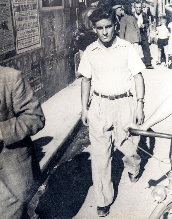 ca 1930s man walking in the street
