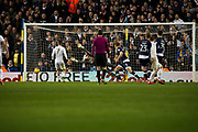 Leeds United Forward Pierre-Michel Lasogga scores to take leeds into the lead 3-2 during the EFL Sky Bet Championship match between Leeds United and Millwall at Elland Road, Leeds, England on 20 January 2018. Photo by Craig Zadoroznyj.