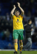Leeds - Monday October 19th, 2009: Grant Holt of Norwich City thanks the traveling fans after the Coca Cola League One match at Elland Road, Leeds. (Pic by Paul Thomas/Focus Images)..
