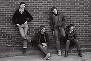 Teenage boys posing, Greenford, London, UK 1980s.