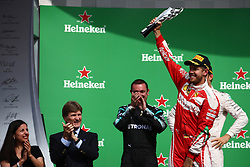 Formel 1: GP von Mexiko 2016 - Rennen in Mexiko-Stadt / 301016<br /> <br /> ***3rd place Sebastian Vettel (GER) Scuderia Ferrari SF16-H.<br /> 30.10.2016. Formula 1 World Championship, Rd 19, Mexican Grand Prix, Mexico City, Mexico, Race Day.<br /> Copyright: Batchelor / XPB Images / action press ***