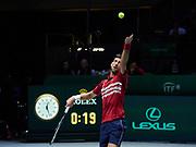 Serbia vs Russia, quarter final, Novak Djokovic of Serbia during the Davis Cup 2019, Tennis Madrid Finals 2019 on November 22, 2019 at Caja Magica in Madrid, Spain - Photo Arturo Baldasano / ProSportsImages / DPPI