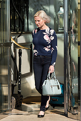© Licensed to London News Pictures. 30/09/2015. Brighton, UK. Councillor CLAIRE HAMILTON leaving her hotel in Brighton this morning after being photographed with Labour MP Simon Danczuk last night.  Day four of the 2015 Labour Party Conference, held at the Brighton Centre in Brighton, East Sussex. This years conference takes place just weeks after Jeremy Corbyn was elected leader of the party. Photo credit: Ben Cawthra/LNP