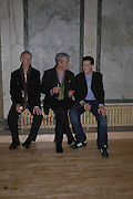 Paul Mcnaney, Paul Hughes and Kean Hughes. Caribbbean Pirates at the Coppermill  by Paul McCarthy Whitechapel off-Site installation and diner at Shoreditch Town Hall.    22 October 2005. ONE TIME USE ONLY - DO NOT ARCHIVE © Copyright Photograph by Dafydd Jones 66 Stockwell Park Rd. London SW9 0DA Tel 020 7733 0108 www.dafjones.com