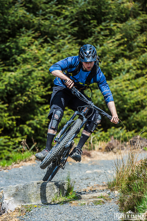 Ed Thomsett styles it up at Kielder Forest on his Vitus Sommet CR.